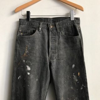90年代 Levi's 501 Black Denim MADE IN U.S.A. カラフルペンキ