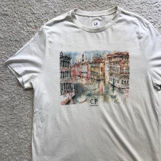 CP COMPANY 水彩画 プリント Tシャツ XL