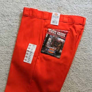 90年代 Dickies Twill Pants DEAD STOCK Orenge W38 ラスト1 MADE IN USA