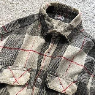 60年代 King Kole コットン ヘビーネル シャツ 好配色 マチ付き