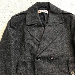 MARNI ウール ショート丈 P-コート MADE IN ITALY