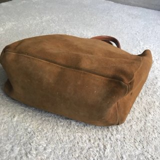 80s Brookstone Suede Tote Bag