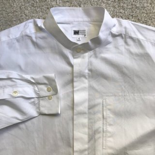 MIYAKE DESIGN STUDIO Band Collor White Shirt L