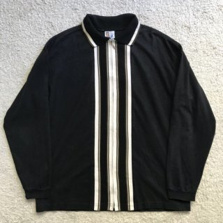 90s Cotton Zip-up knit Cardigan L