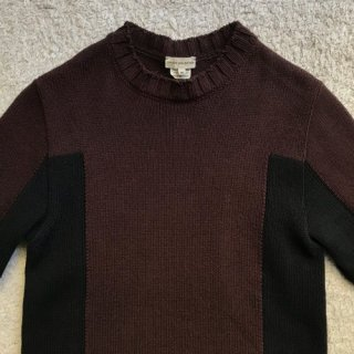 DRIES VAN NOTEN 2tone Cotton Knit M Made in Belgium