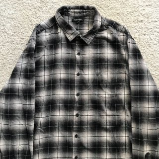 90年代 ombre check flannel Shirt XXL 好配色
