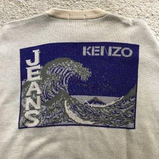 80年代 初期 KENZO JEANS 浮世絵 セーター 日本製