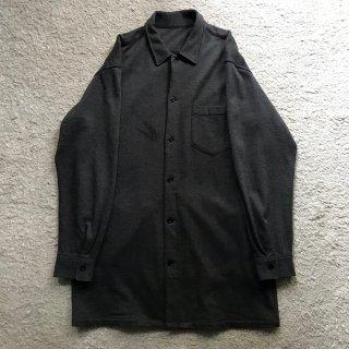 UNKNOWN Brand Wool Long Shirt&Coat チャコール