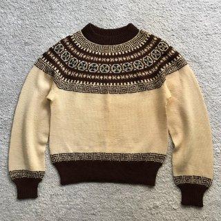 80's PAUL MAGE ハンドメイドノルディックセーター MADE IN DENMARK