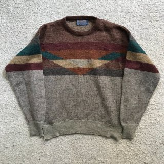 70's PENDLETON Pure Virgin Wool Knit M MADE IN USA