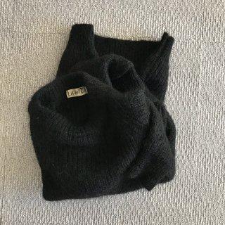90's LA-BREA ブラック モヘア セーター 毛足長め