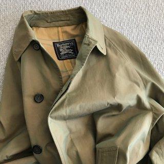 60's Burberry's Balmacaan Coat MADE IN ENGLAND 玉虫色