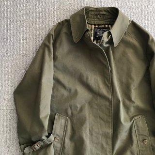 60's Burberry's Balmacaan Coat MADE IN ENGLAND 一枚袖 オリーブ