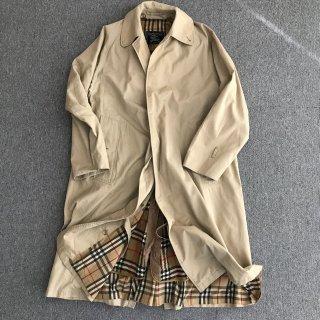 60's Burberry's Balmacaan Coat MADE IN ENGLAND 一枚袖 ライナー付き