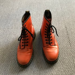 90's Dr.Martens 8ホール Boots オレンジ MADE IN ENGLAND