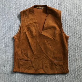 80's Euro Vintage Suede/Knit Vest