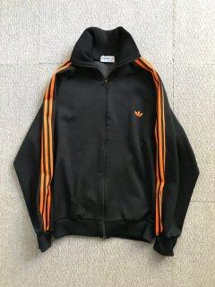 80's Adidas Track Jacket ブラック オレンジライン