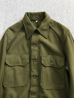60's US-ARMY Wool Shirt M Olive