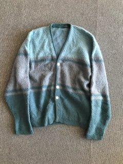 60's UNKNOWN Mohair Cardigan 水色