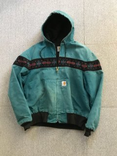 90's Carhartt Duck Parka ネイティブ柄 X-LARGE MADE IN USA