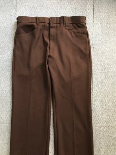 70's LEVI'S ACTION SLACKS Pants 茶  W35 MADE IN USA