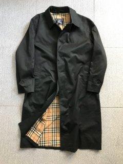 Vintage Burberry's Balmacaan Coat 黒 MADE IN ENGLAND