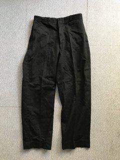 60's U.S.Military Chino Trousers ガーメントダイブラック W34