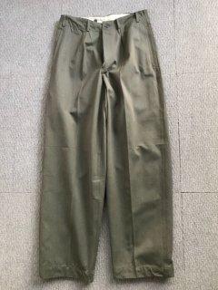 60's スウェーデン プリズナー パンツ W31 デットストック モスグリーン 玉虫色