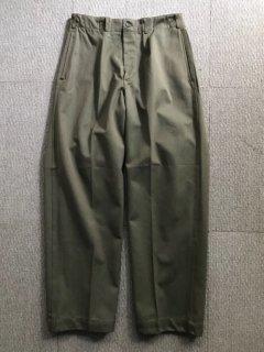 60's スウェーデン プリズナー パンツ 48 W31 デットストック モスグリーン 玉虫色
