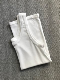 Italian tank top white Dead Stock