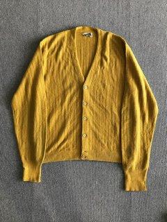 80's Ellis Bros Wool Cardigan MUSTARD XL程度