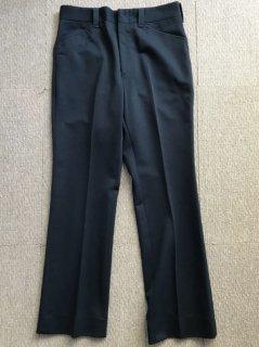 80's UNKNOWN Polyester Bootscut Pants NAVY W33-L30 TALON