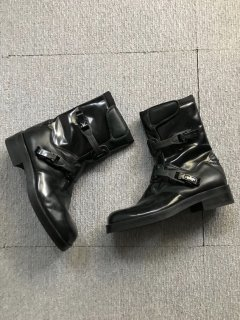 GUCCI Leather Boots BLACK MADE IN ITALY 42 1/2