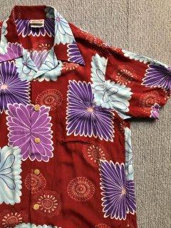 90's Hawaiian Rayon Hawaiian Shirt MEDIUM 菊 花火