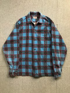 60's TOWNCRAFT Printnel Nel Shirt M-15-15 1/2 好配色