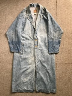 80's Denim Long Coat ICE