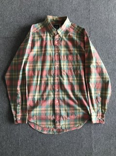 90's GAP Madras Check Cotton b/d Shirt