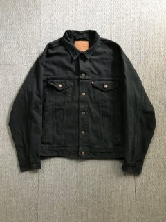 90's Levi's 70603  BLACK Denim Track Jacker XL