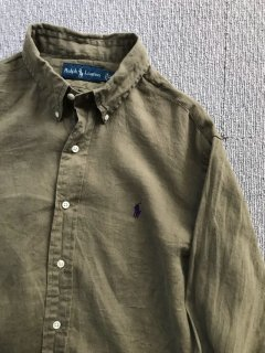 90's Polo by Ralph Lauren Linen BD L/S Shirt