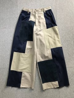 Customized cotton wide Pants Crazy pattern