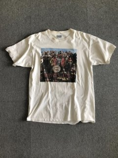 90's THE BEATLES Print S/S T-Shirt XL