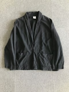 90's Vintage Cotton Shawl collar relaxation jacket