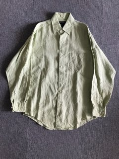 BROOKS BROTHERS linen shirt ライムグリーン