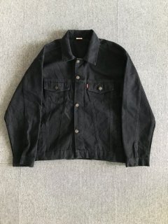 Euro Levi's Black denim trucker jacket