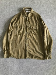 stone island cotton×linen shirt