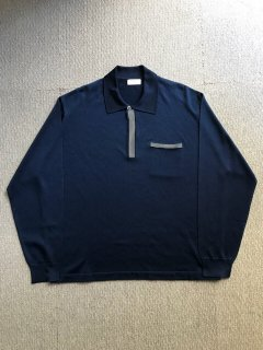 80's Euro Summer Polo Shirt DARK NAVY
