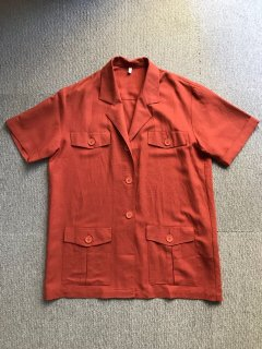 80's  Euro Rayon/Linen Short sleeve Summer jacket