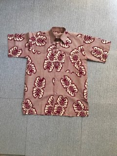 90's African batik Cotton S/S Shirt