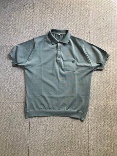 80's Euro Polyester S/S Polo Pocket Shirt