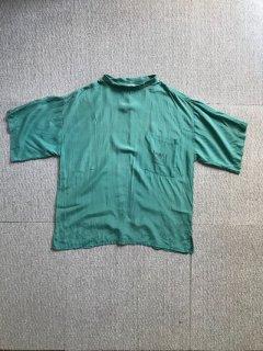 80's Reine Seide SILK Pocket  S/S Pullover L